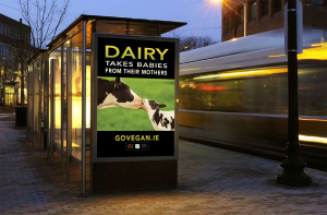 One of the posters from the Vegan Ad Campaign. (Photo copyright Eden Farmed Animal Sanctuary).